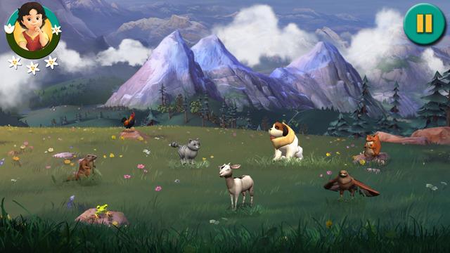 هايدي - مغامرة في جبال الألب لعبة مميزة لتعليم الأطفال علي آيفون وآيباد وآيبود