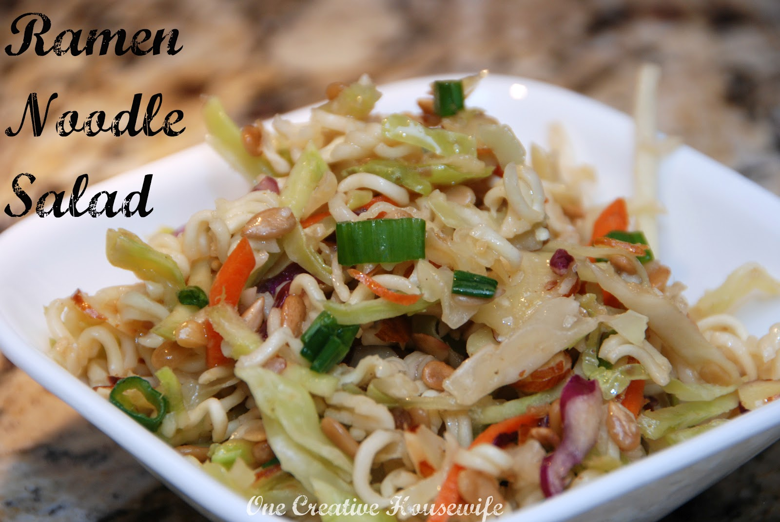 One Creative Housewife: Ramen Noodle Salad