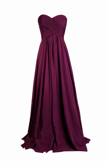 Purple Bridesmaid Dress With Floor Length
