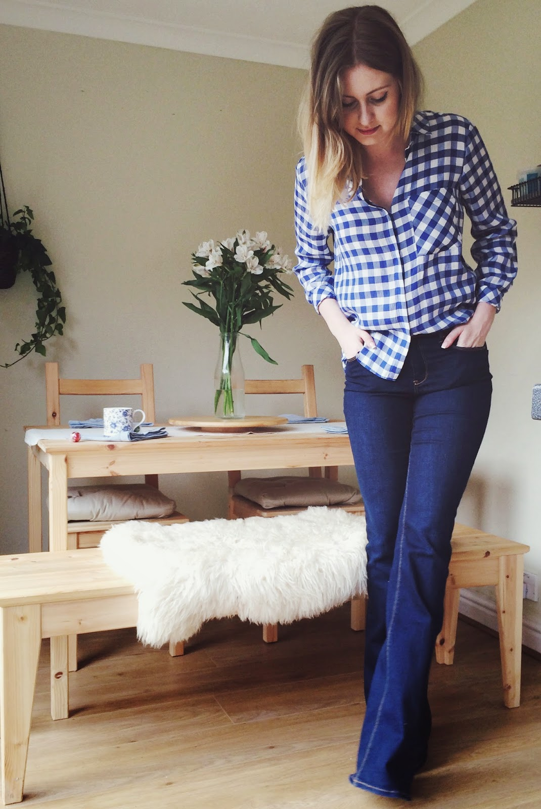 FashionFake, UK fashion blog, fashion bloggers, Spring 2015 trends, gingham shirt from Zara, Gemporia ring review