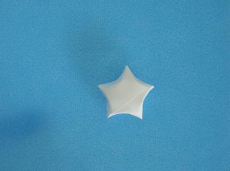 origami bintang dari kertas lipat ini dengan sempurna