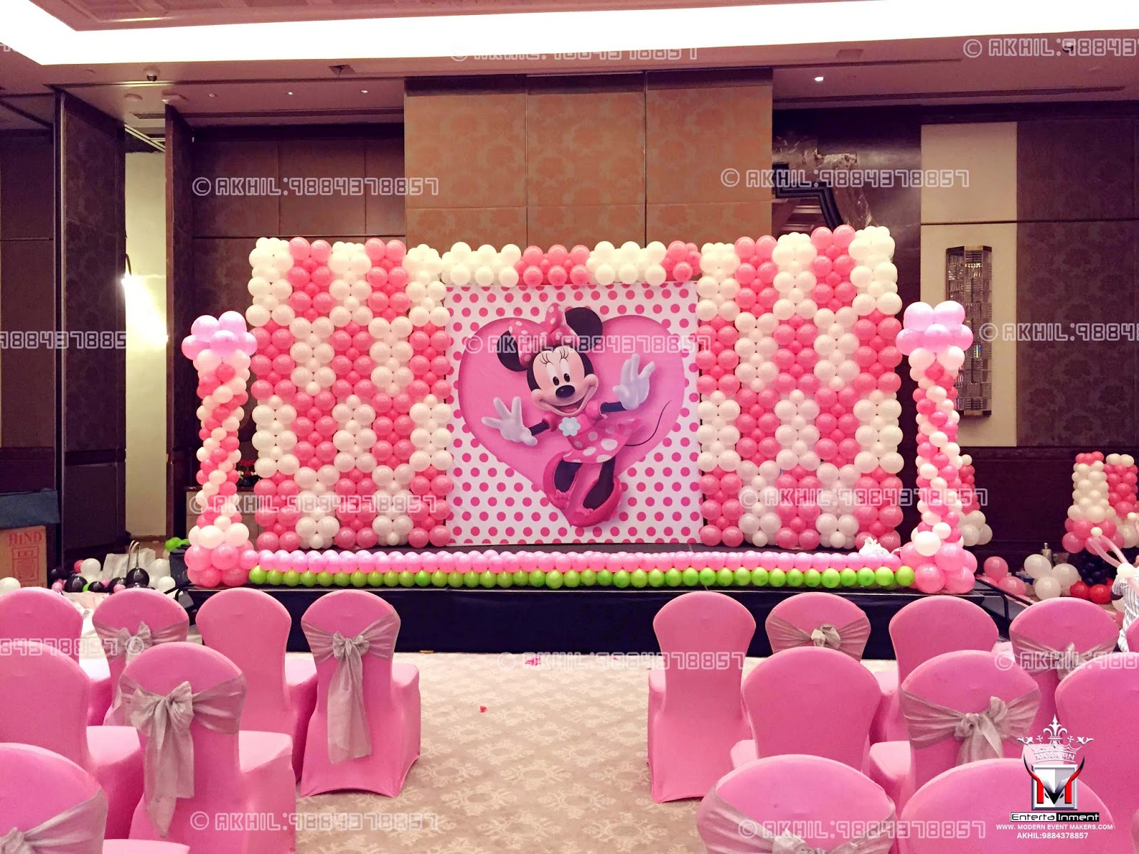 modern leading event is akhil decorations mickey and makers entertainment decor