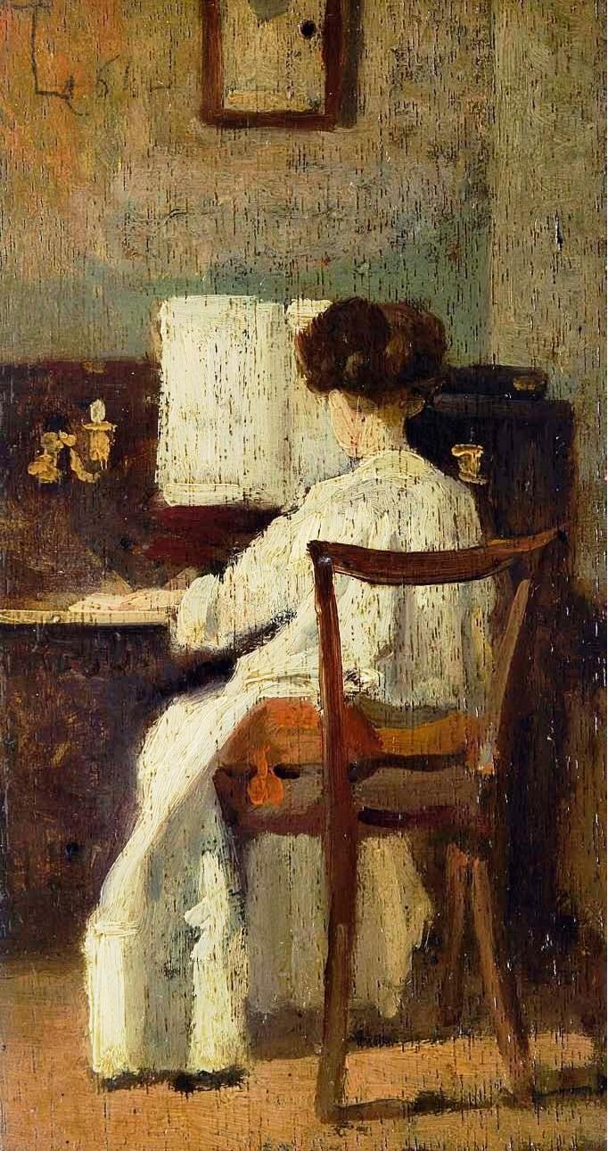 Silvestro Lega - Signora al pianoforte