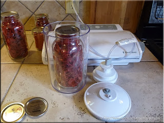 using a vacuum sealer canister to seal a mason jar