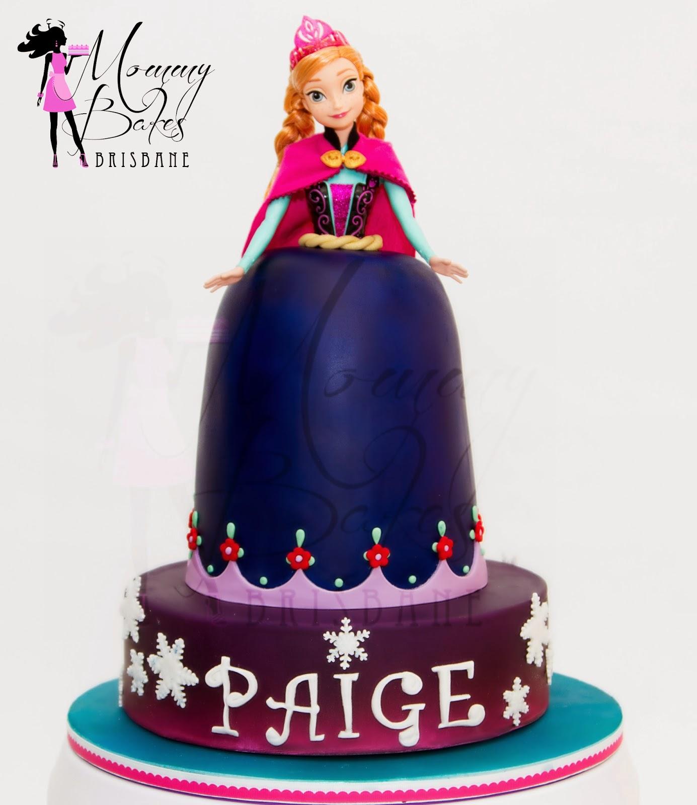MommyBakes-Brisbane: Princess Anna Doll Cake