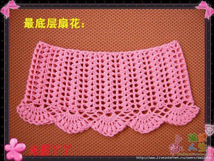 Мастер класс по вязанию юбки на девочку крючком