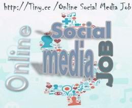 online social media job for making money