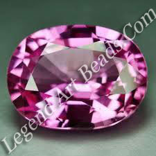 Violet pink topaz