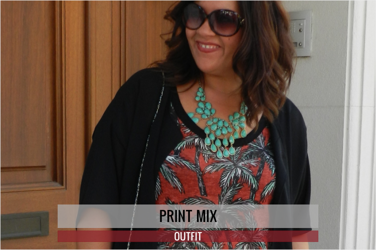 Print Mix · Plus Size Outfit