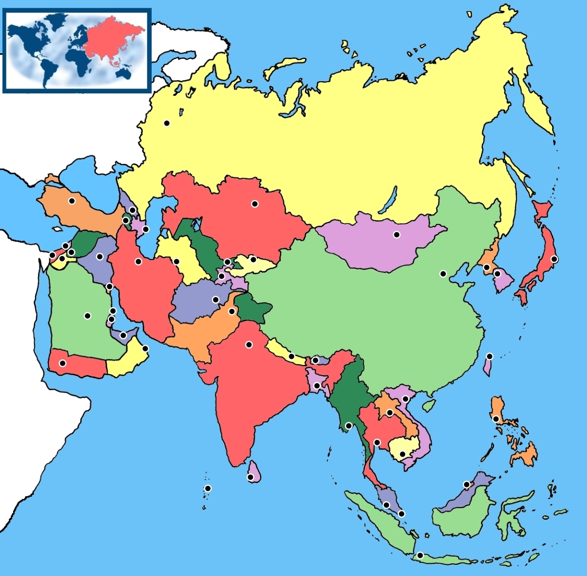 Me gustan las Sociales Asia Mapa Poltico