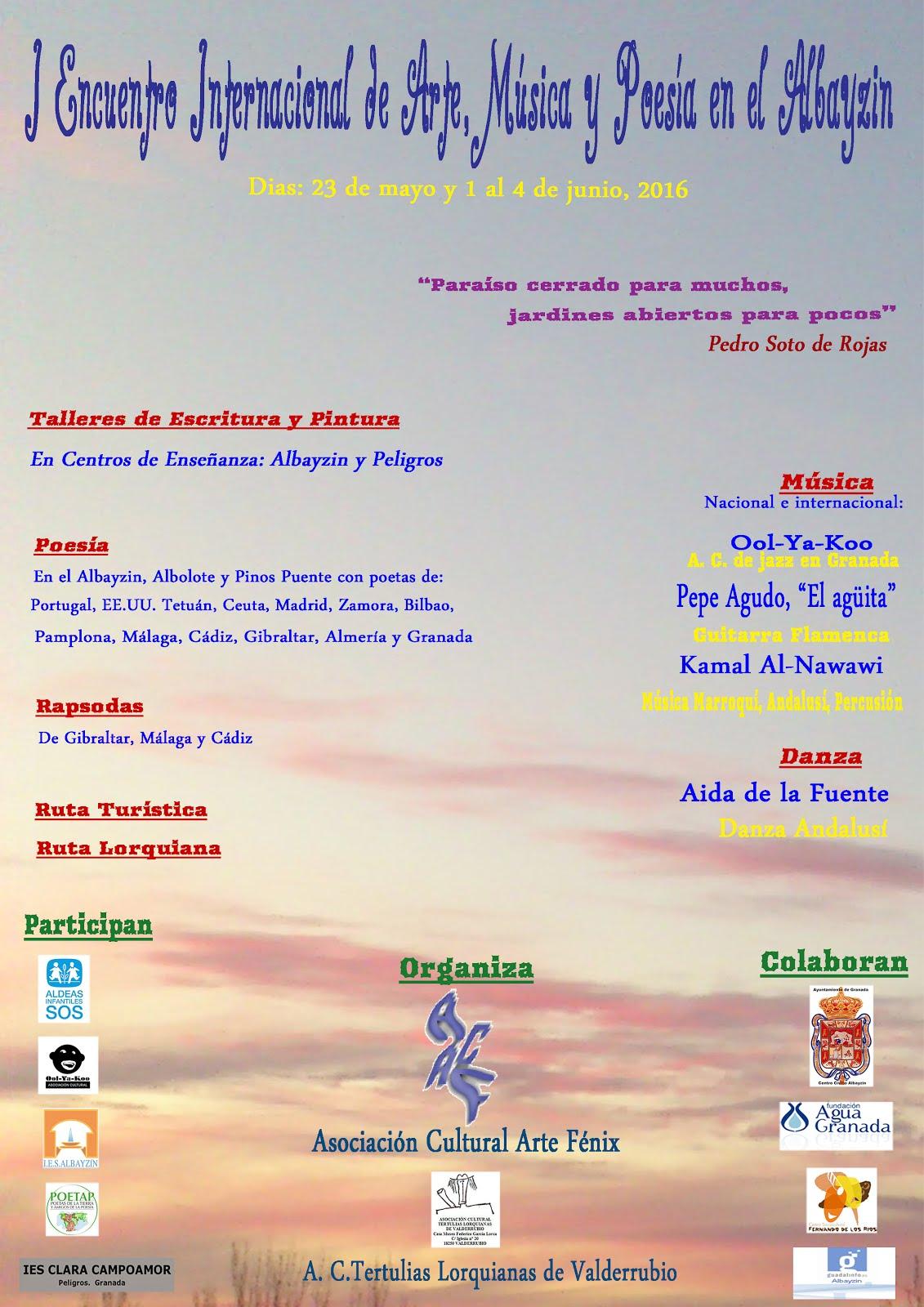 I Encuentro Internacional de Arte, Música y Poesía en el Albayzin