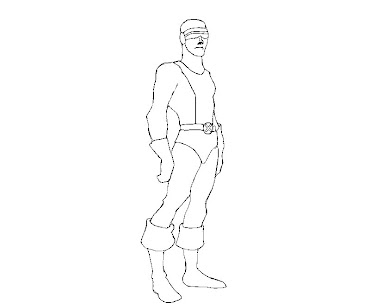 #3 Cyclops Coloring Page