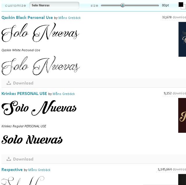 Páginas Web donde escribir letras cursiva en Internet - FontSpace - Solo Nuevas