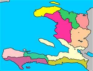 Mapa de los Departamentos de Haití