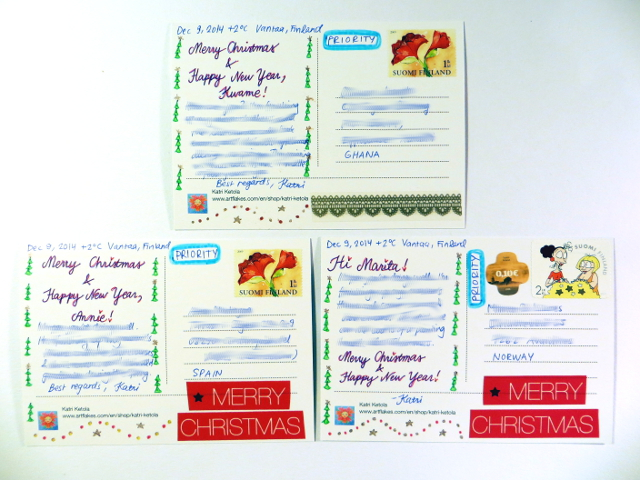 Christmas Cards Joulukortit