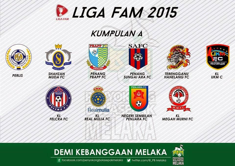 Senarai Pasukan Liga FAM 2015 kumpulan a