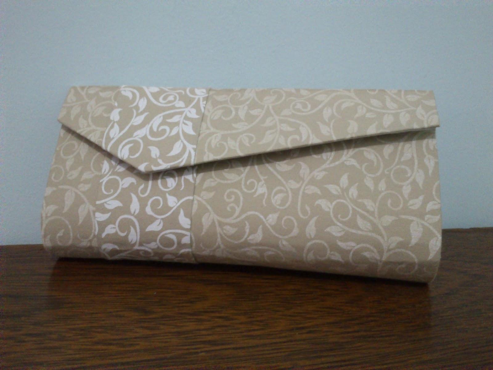 Bolsa De Festa Carteira : Cartonagem bolsa carteira de festa bege e branco iarte