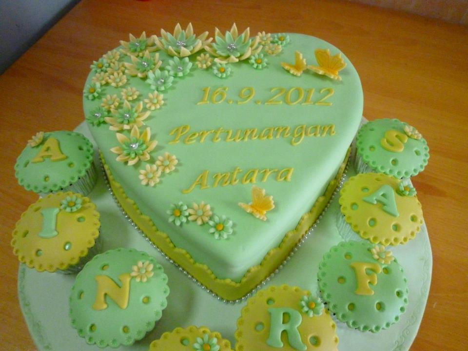 Engagement Cake - Ain & Irfan meidlovingcakes