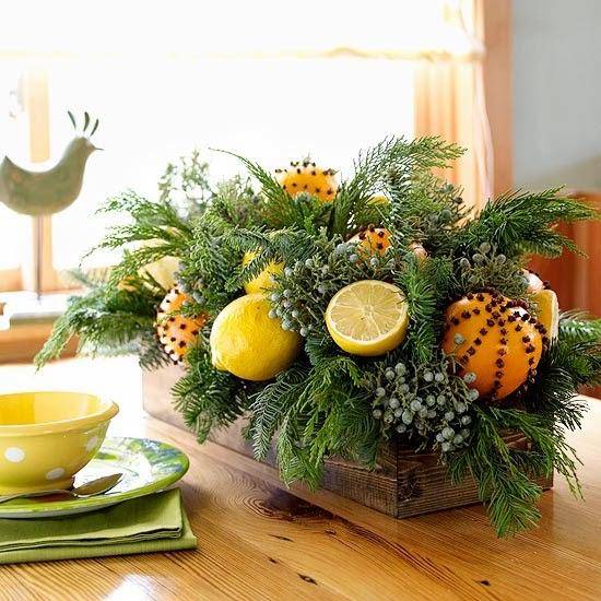 portakal masa dekorasyonu