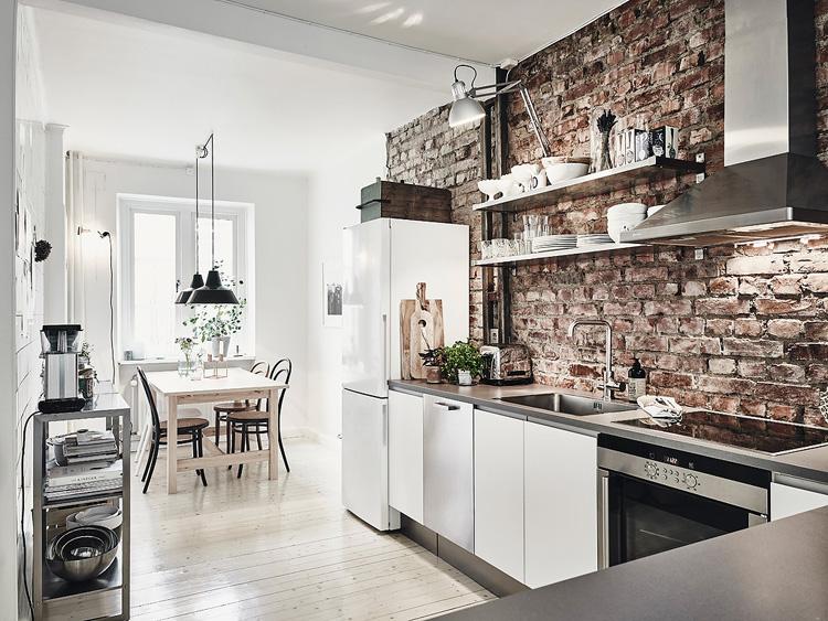 Interior] el apartamento de la pared de ladrillo: ideal – virlova ...