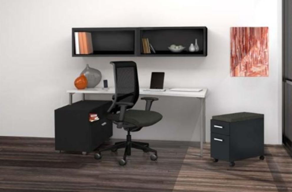Mayline e5K14 Series Desk Layout