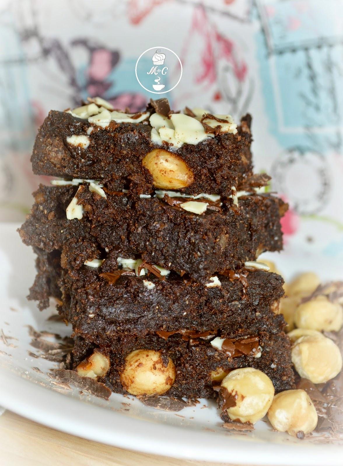 brownie vegano con avellenas