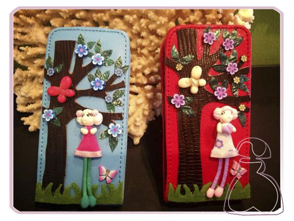 Fundas para móvil iPhone 5 decoradas a mano por Sylvia Lopez Morant