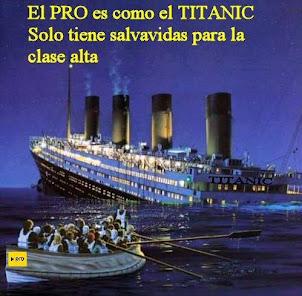 NO TE SUBAS AL TITANIC DE MACRI, ÉL SE SALVA VOS TE HUNDÍS