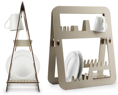 contemporary plate rack to dry for  great design