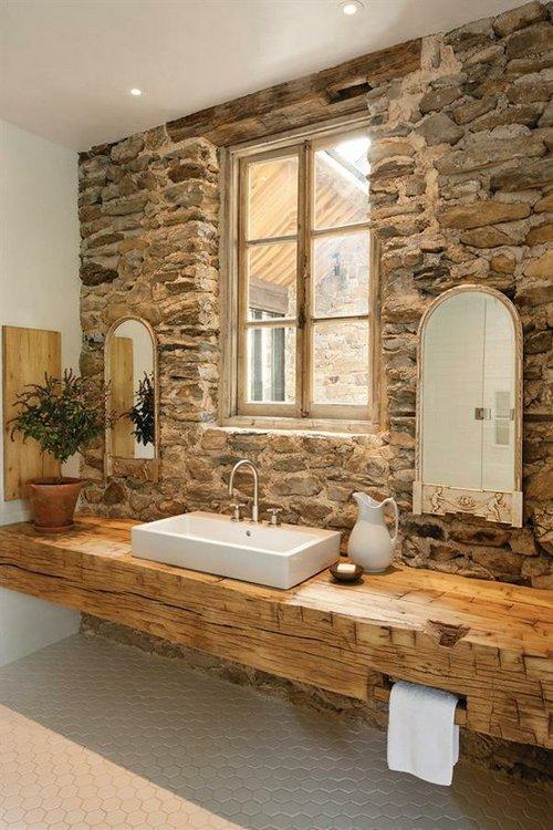 Revestimiento para el ba o decorar tu casa es - Banos con piedra natural ...