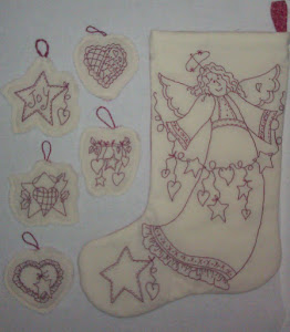 Hearfelt Angel Stocking and Ornaments