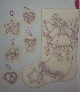 Hearfelt Angel Stocking and Ornaments