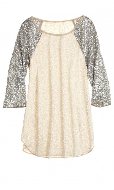 Glittering Sleeves Beautiful Top