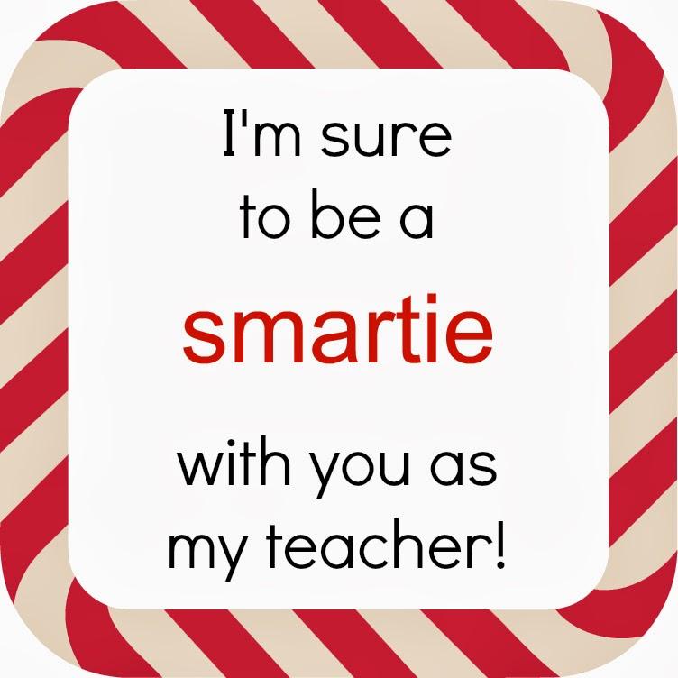 "... to Christmas"" Countdown - Smartie Teacher Appreciation Christmas Gift"