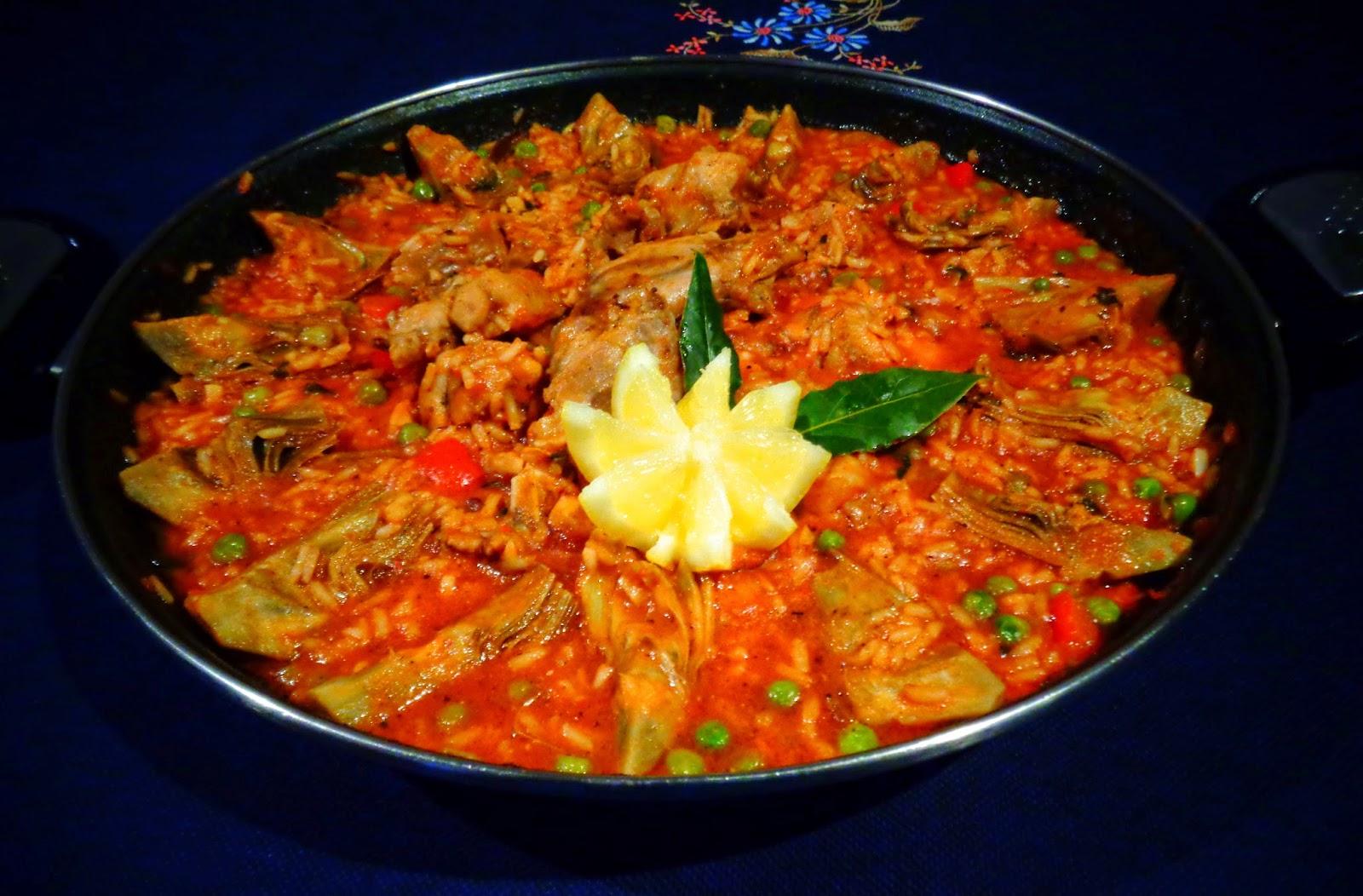 Recetas de mi madre y mias arroz caldoso con conejo y - Arroz caldoso con costillas y alcachofas ...