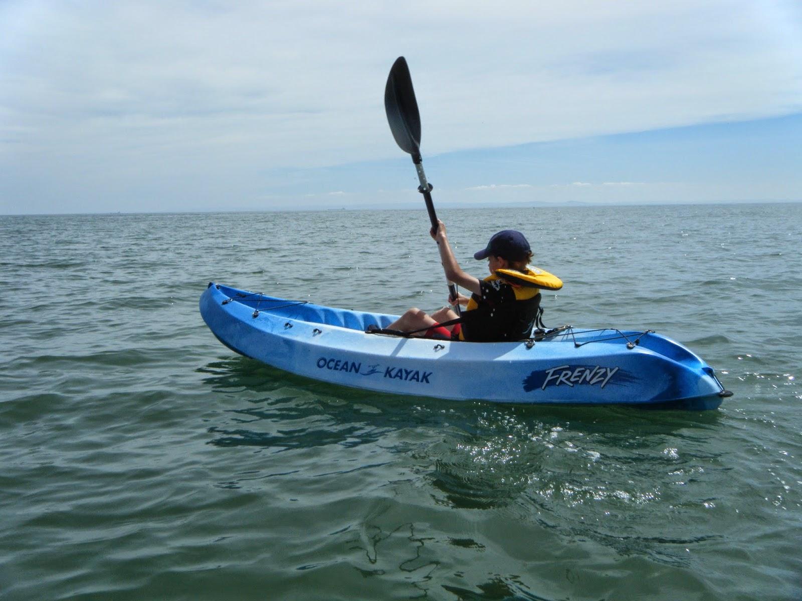 8 year old benjamin 39 s first kayak fish ocean kayak uk for Ocean fishing kayaks