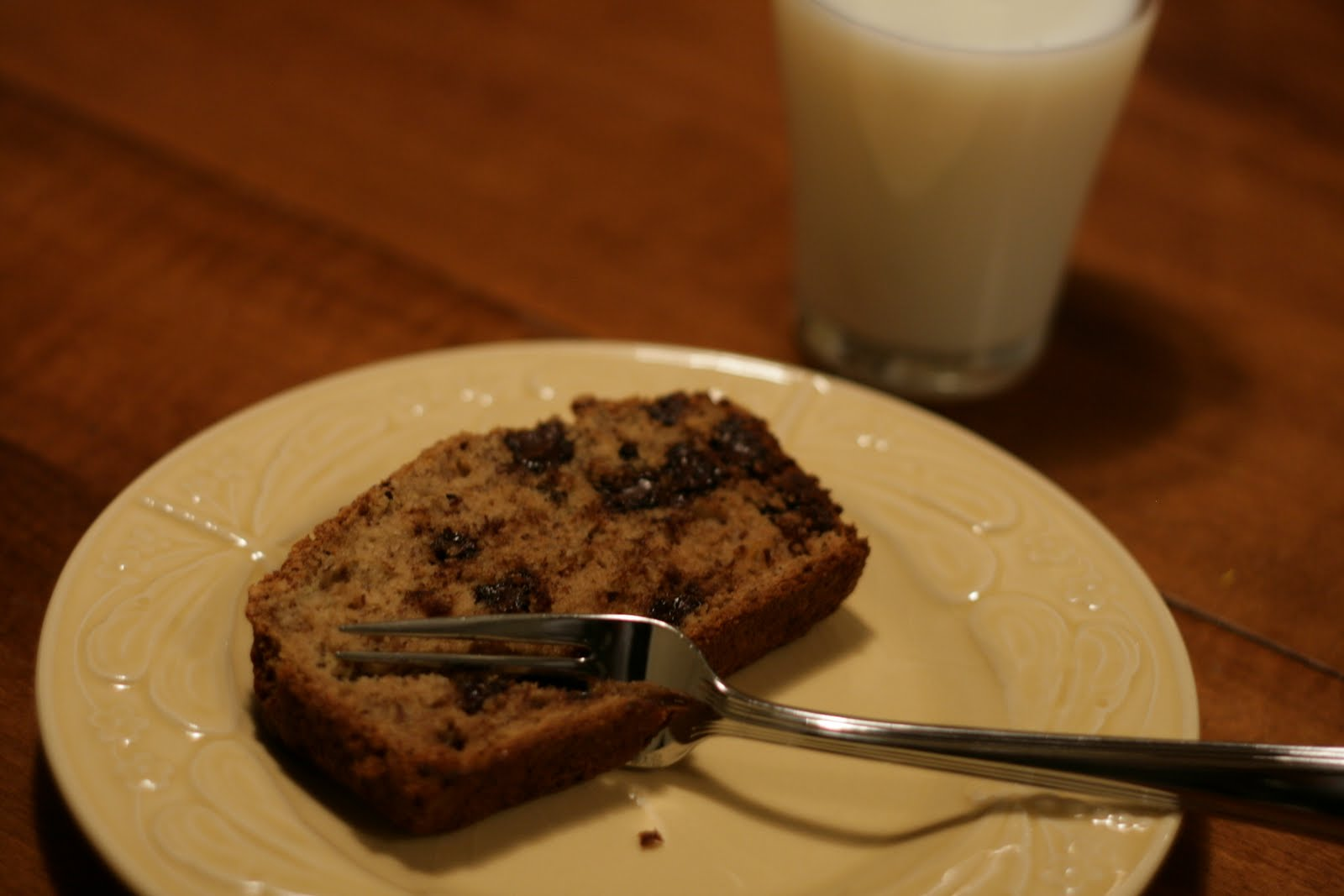 in Beantown: Lemony olive oil banana bread with chocolate chips