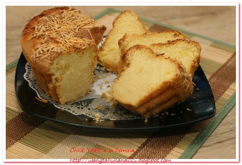 It All Started With His Birthday Cake Tape Resep Femina