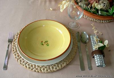 decoracion mesas mesa rustica servilletero