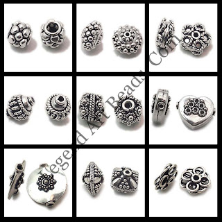 Indian Sterling Silver Wholesale Carved Beads