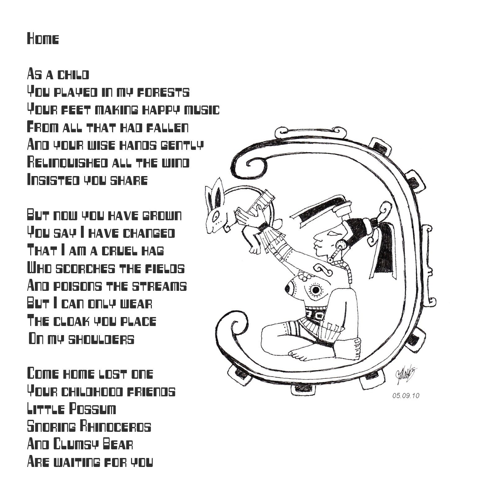 Zombie Logic From Thomas L. Vaultonburg, Outsider Poet: Home (Tiny ...