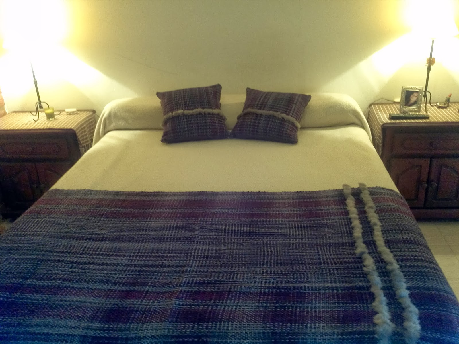 Lola telares pie de cama con almohadones para dos plazas - Pie de cama ...