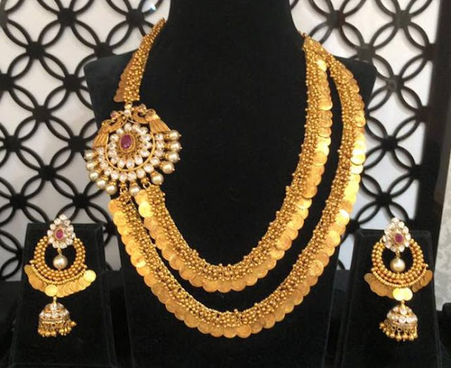 2 Step Heavy Kasu Mala Latest Indian Jewellery Designs