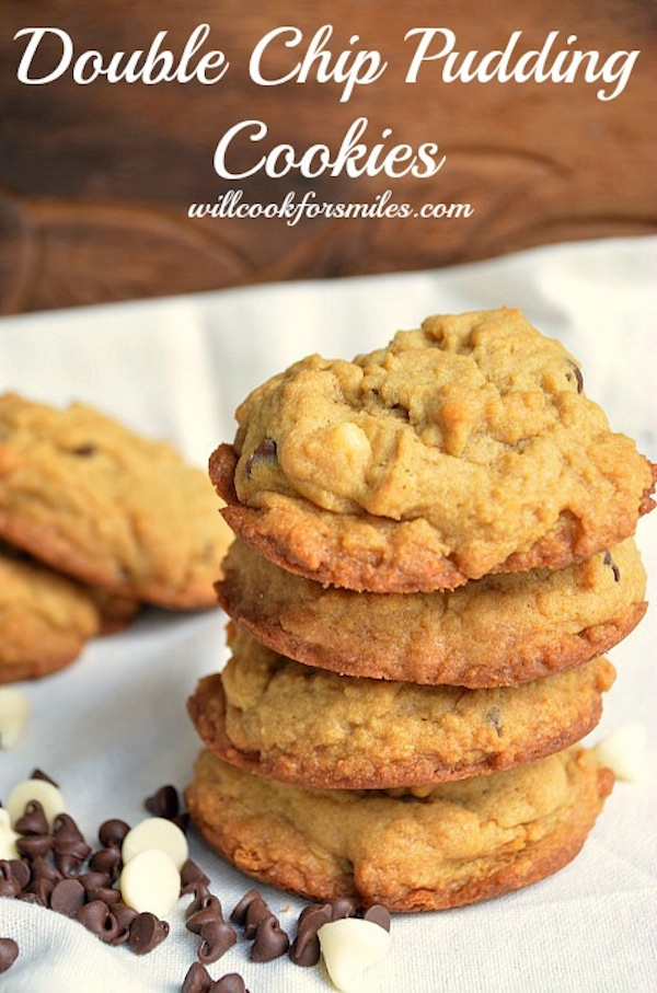 Double Chip Pudding Cookies