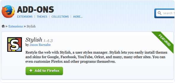 Stylish-Mozilla-extension