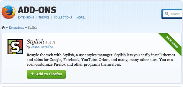 Stylish-Mozilla-extension