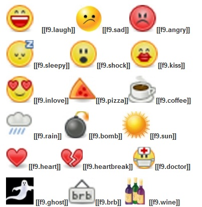 Easy way to make facebook smileys for facebook chat box