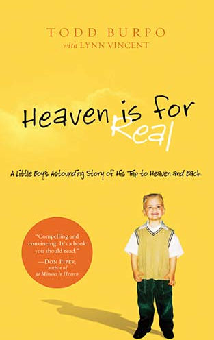 heaven is for real book review While movie reviews will never be a main focus of gotquestionsorg, we do  receive a lot  the book heaven is for real was released in 2010.