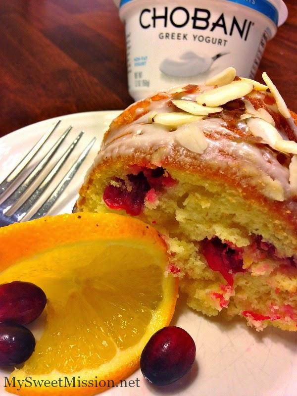 Cranberry Orange Bundt Cake with Orange Glaze by MySweetMission.net