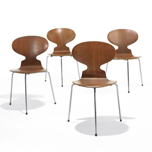 Arne Jacobsen Ant chairs, set of four  Fritz Hansen Denmark, 1951